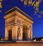 Arc triomphe at night