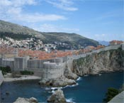 Dubrovnik wall in Croatia