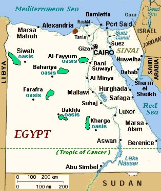 Mapegyptjpg - Map of egypt 3000 bc