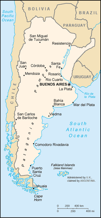 Argentina Country Profile Facts Stats - Argentina map of country