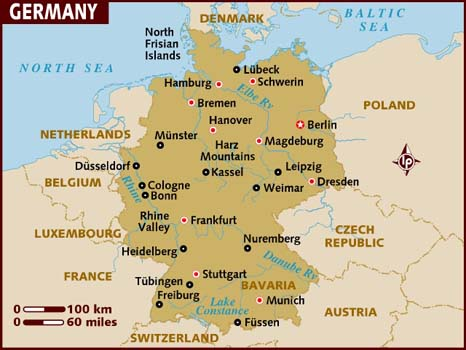 Country Of Germany Map.Germany A Summary Of Deutschland