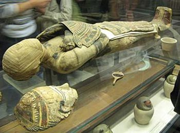 Egyptian mummy at the Louvre