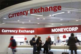 Moneycorp foreign currency branch in London airport